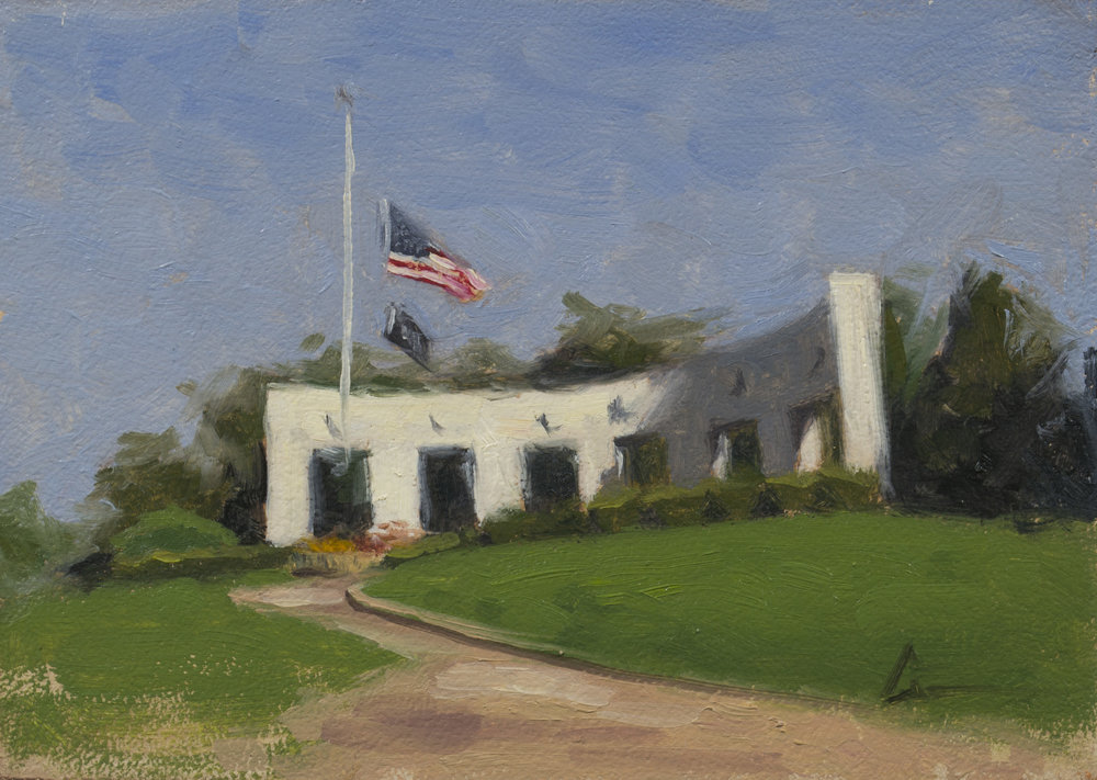 """Color Study: Memorial Park"", 5x7, oil on panel; please direct inquiries to  Regency Parkway Art"