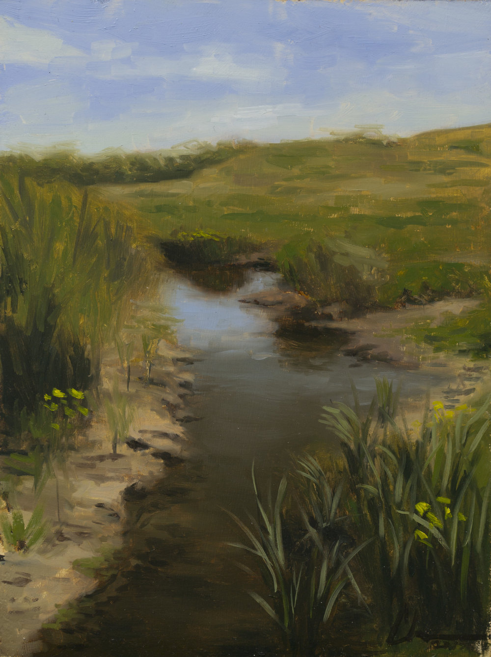 """Color Study: Headwater"", 9x12, oil on panel"