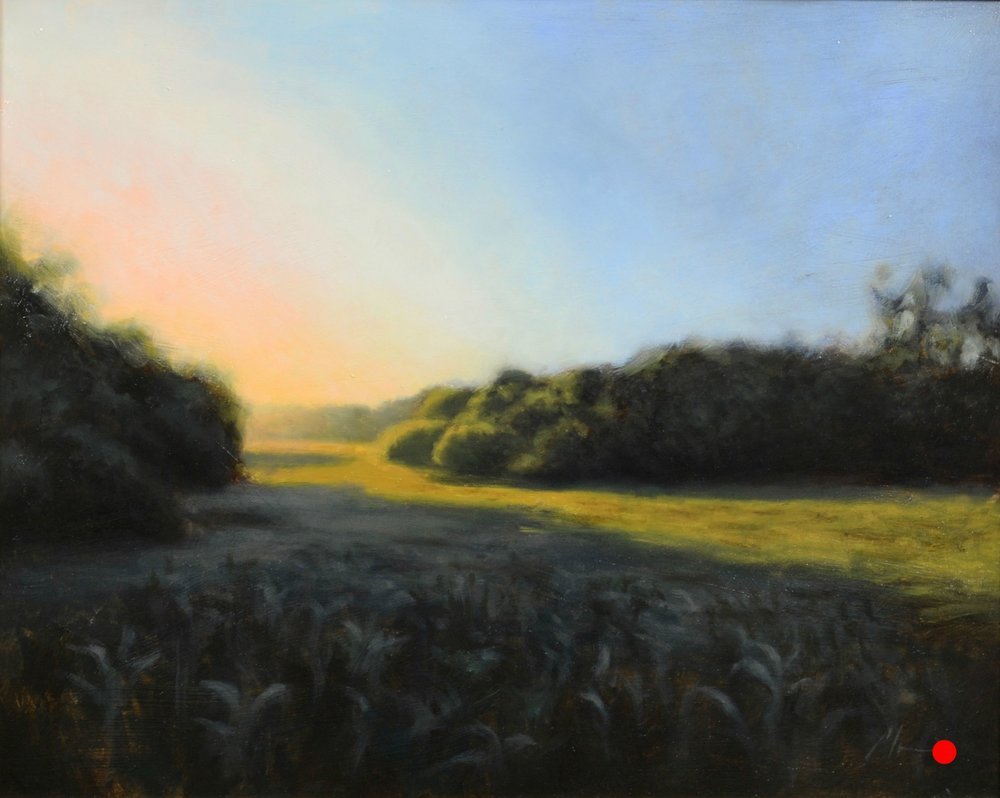 """Lauritzen Sunset"", 16x20, oil on linen, SOLD"