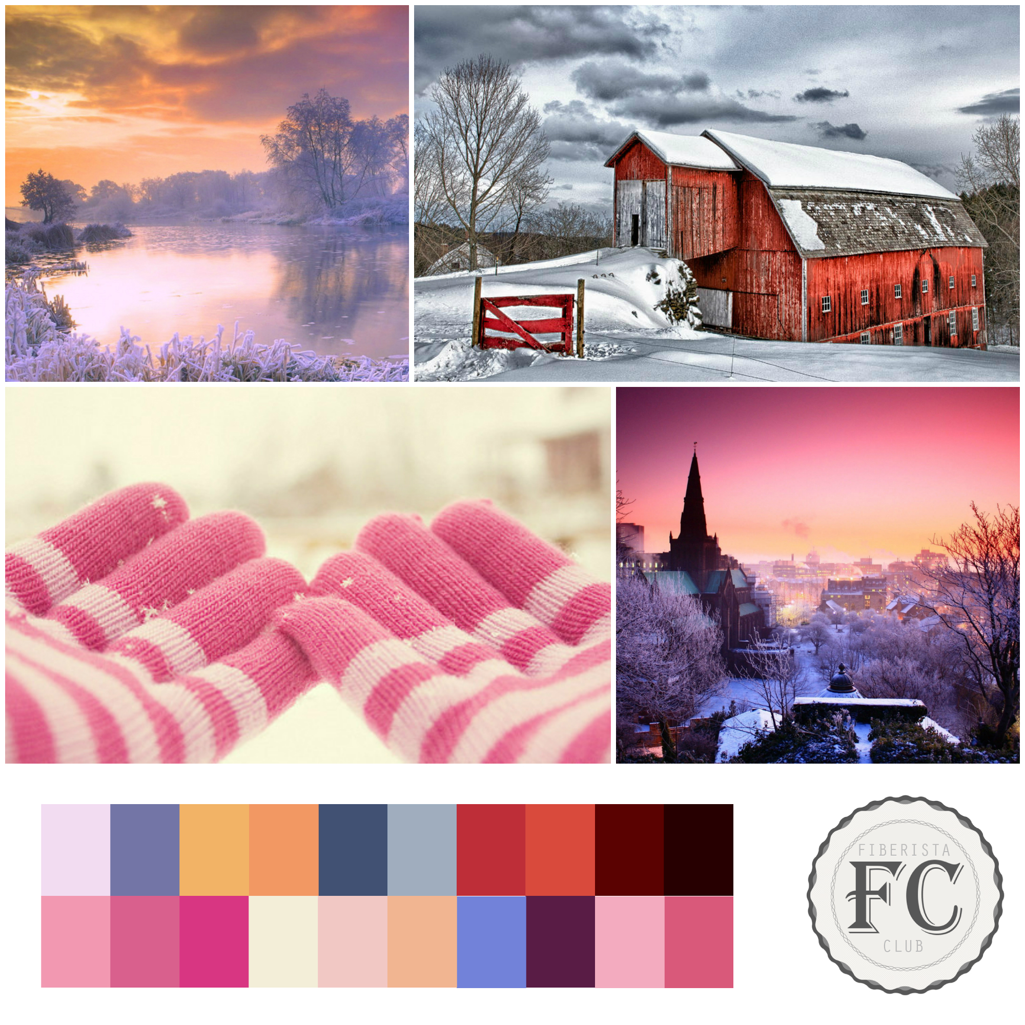 Our warm mood board for January 2015.
