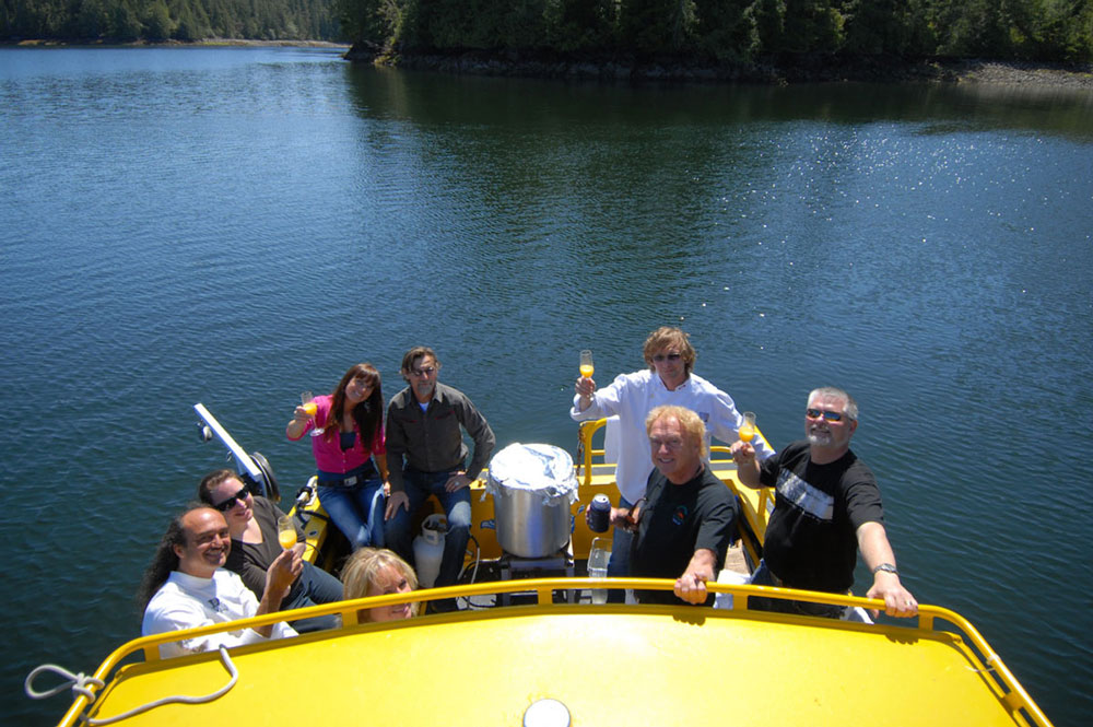 Private boat charter with catering in Tofino, BC.