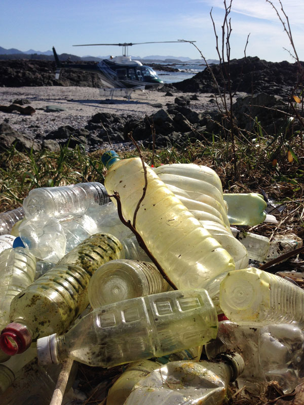 Plastic is a world wide waste issue, that we are feeling in our pristine Tofino waters.