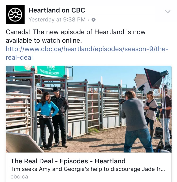 Heartland on CBC