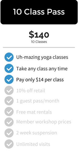 Yoga Vie 10 Class Pass
