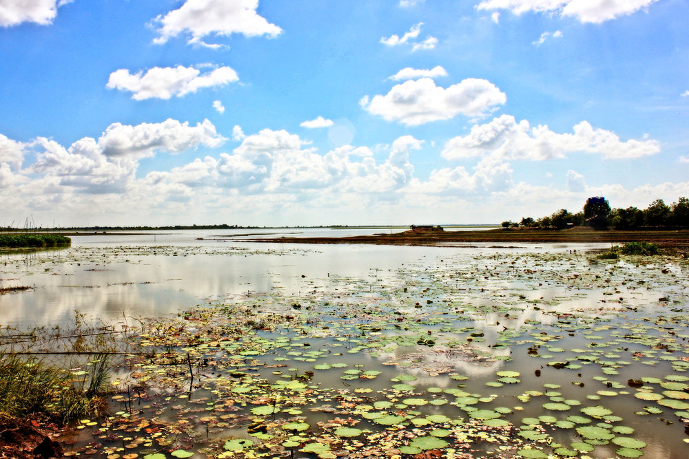 Tonle Sap Lake in Cambodia.