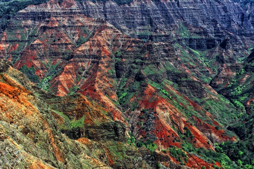 Textures of the Waimea Canyon