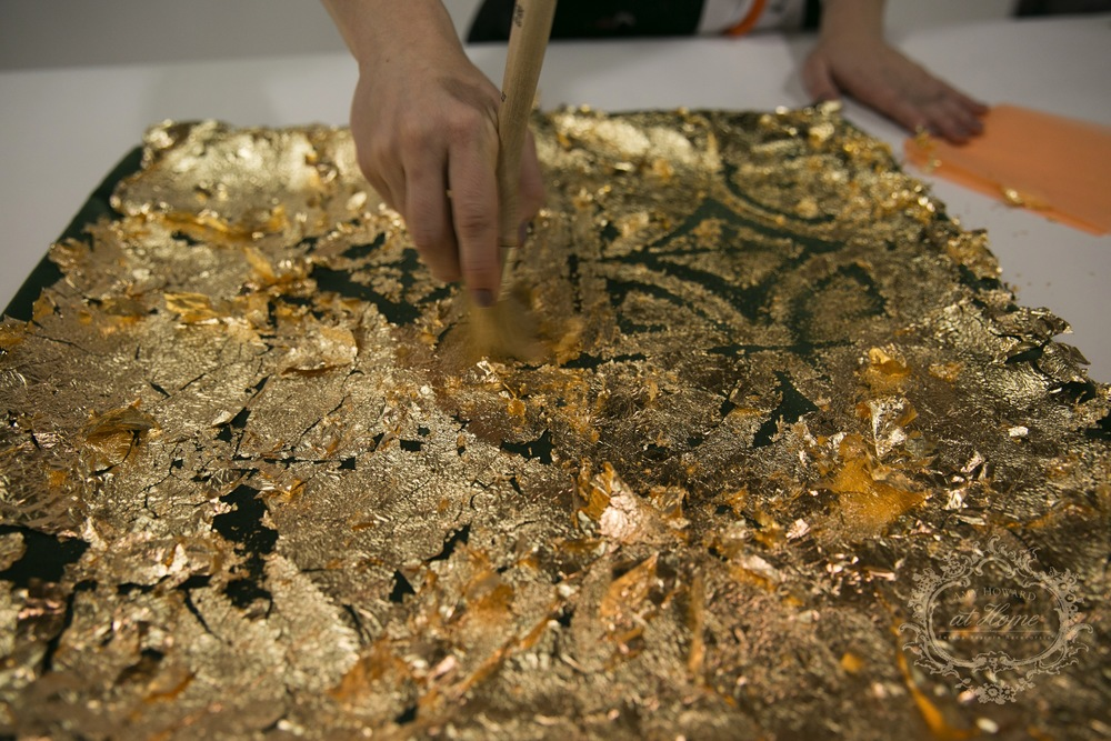 brushing off gilding