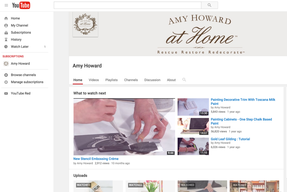 Amy Howard YouTube Channel
