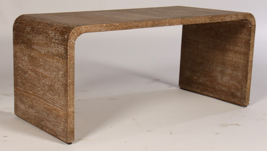 Jean Michel-Frank-Style Cerused Oak Coffee Table via LiveAuctioneers.com