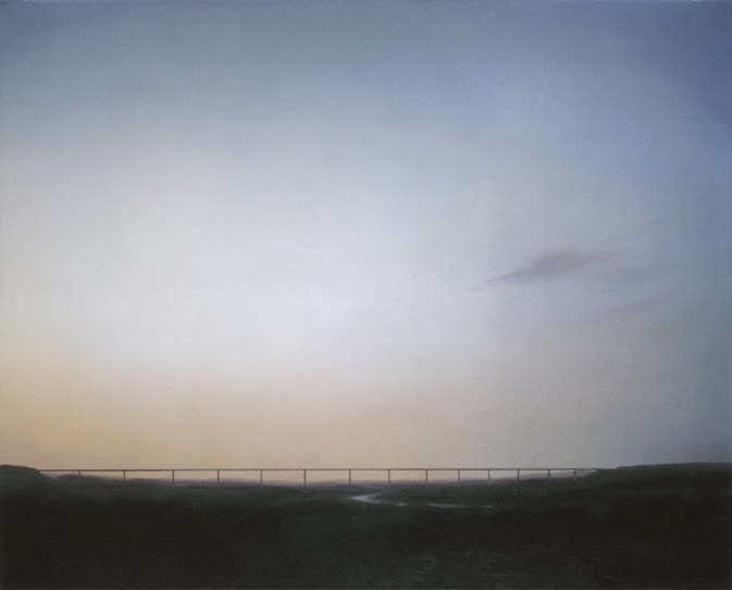 Gerhard Richter,  Ruhrtalbrucke  (Ruhrtal Bridge) 1969, Oil on Canvas