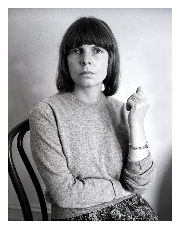 Margaret Drabble (with impeccable cashmere and bentwood),  1976
