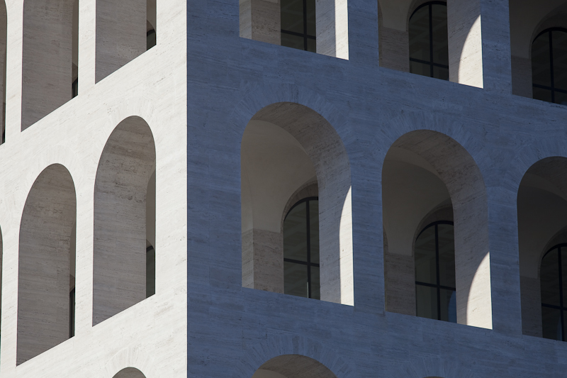 Palazzo della Civilita del Lavoro as captured by Architectural Photographer Claudio Olivia.