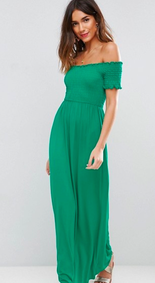 Asos, Off Shoulder Maxi Dress.