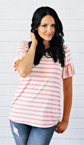 Pink Striped Clara Blouse