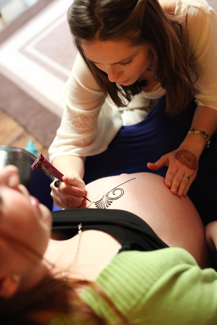 Sarah creating a design for a new mom. Photo by Inese Photography.