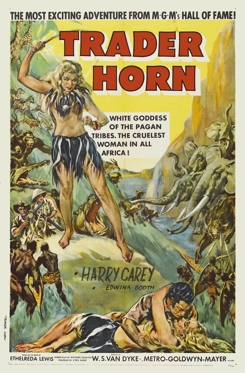 An original poster for  Trader Horn  (1931).