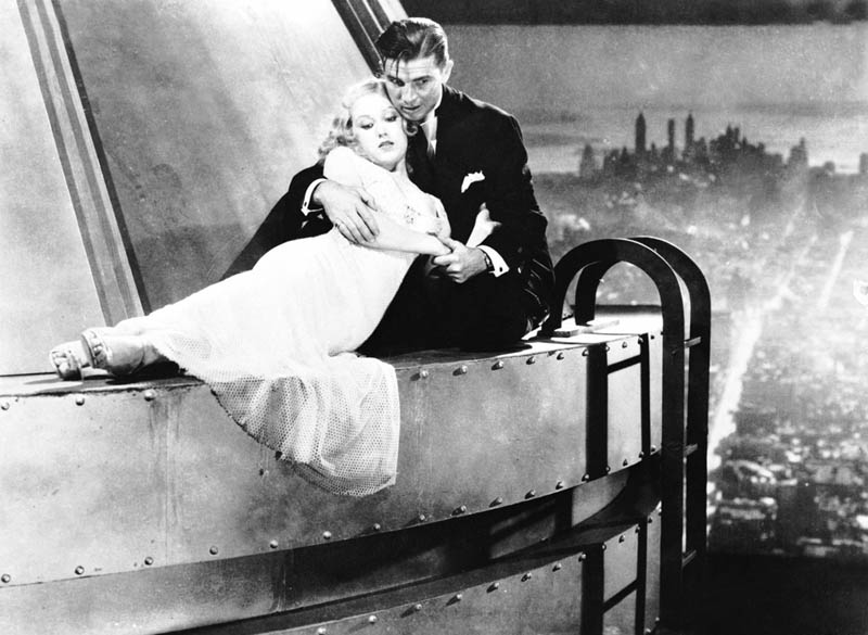 Ann Darrow and Jack Driscoll On Empire State Building, King Kong 1933-.jpg