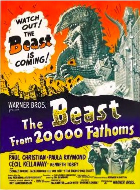 Original poster for  The Beast from 20,000 Fathoms (1953).