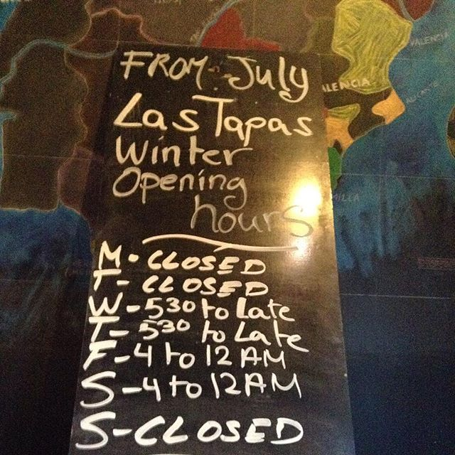 From July winter opening hours