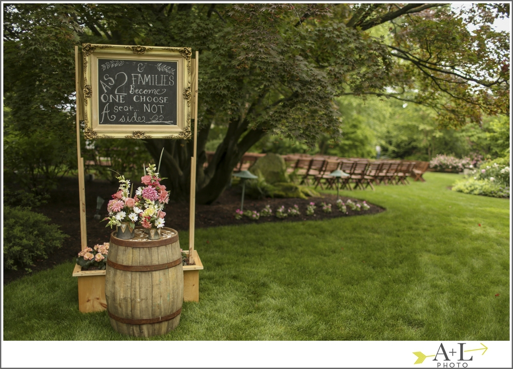Rustic picture frame chalkboard sign