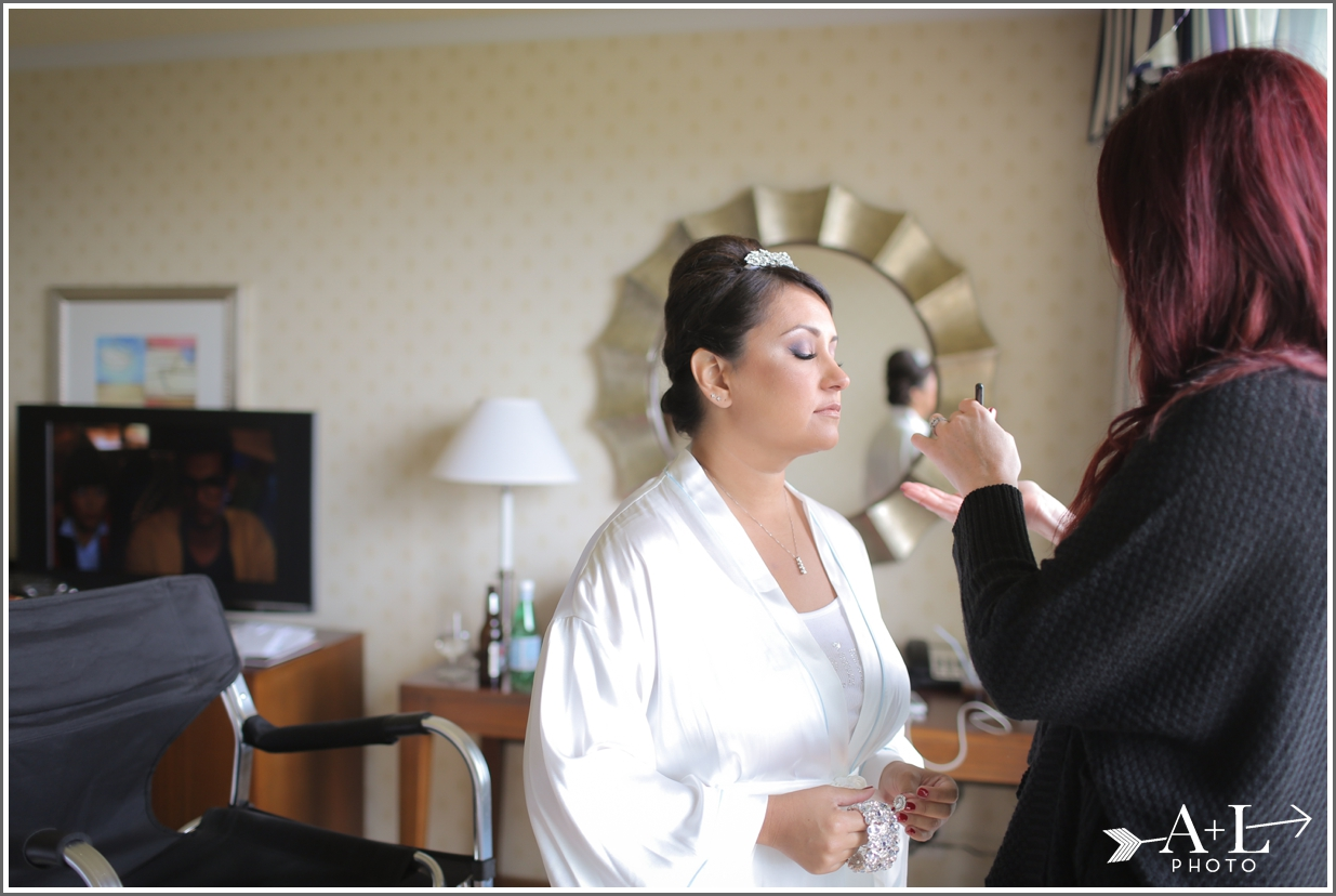 Newport Marriott Wedding, Wedding, getting ready, make-up