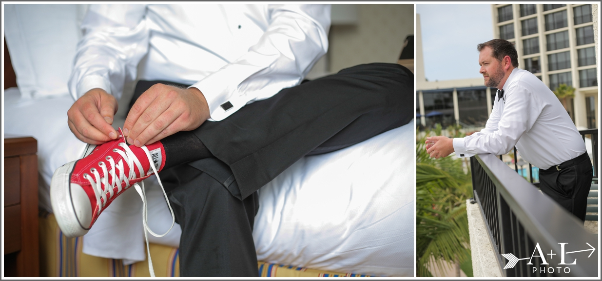 Newport Marriott Wedding, Groom, Red Chucks