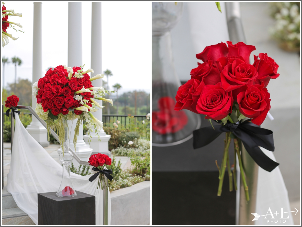 Newport Marriott Wedding, wedding flowers, red roses