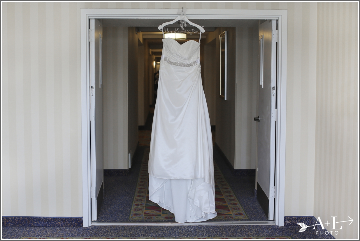 Newport Marriott Wedding, Wedding Dress