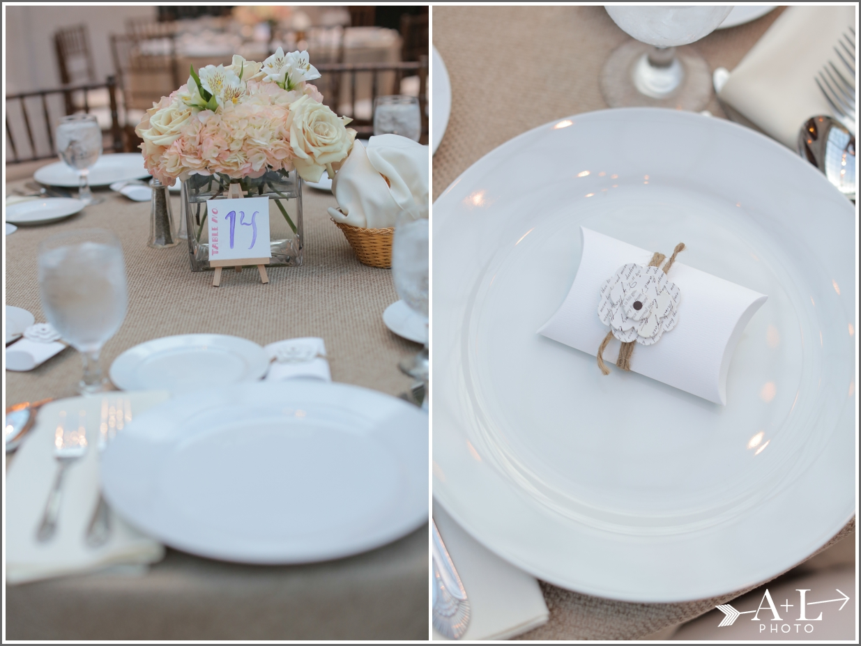 Burlap Tablecloth, Neutral Place Settings