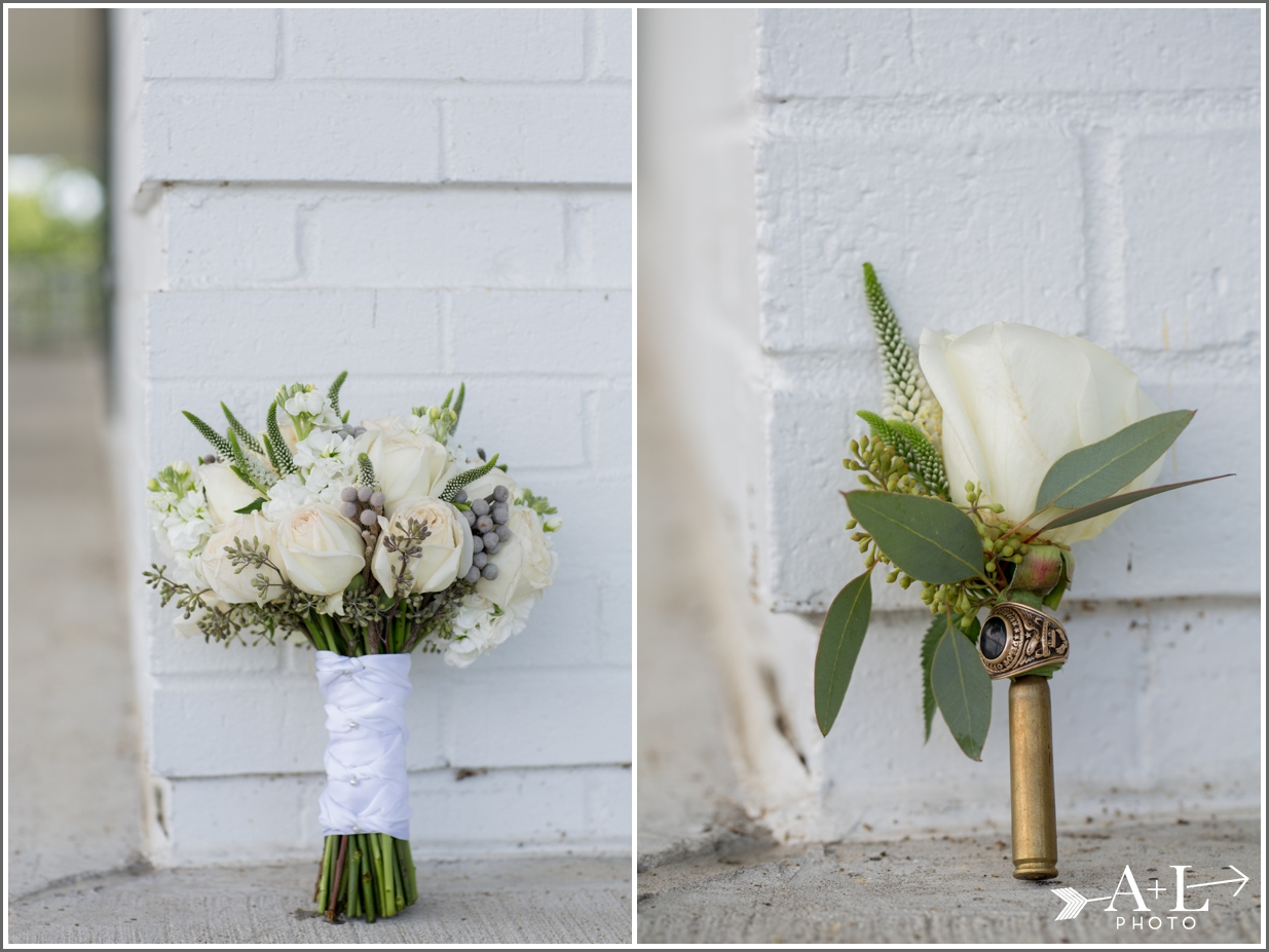 Country Club Wedding, Bridal Bouquet, Grooms Boutonniere