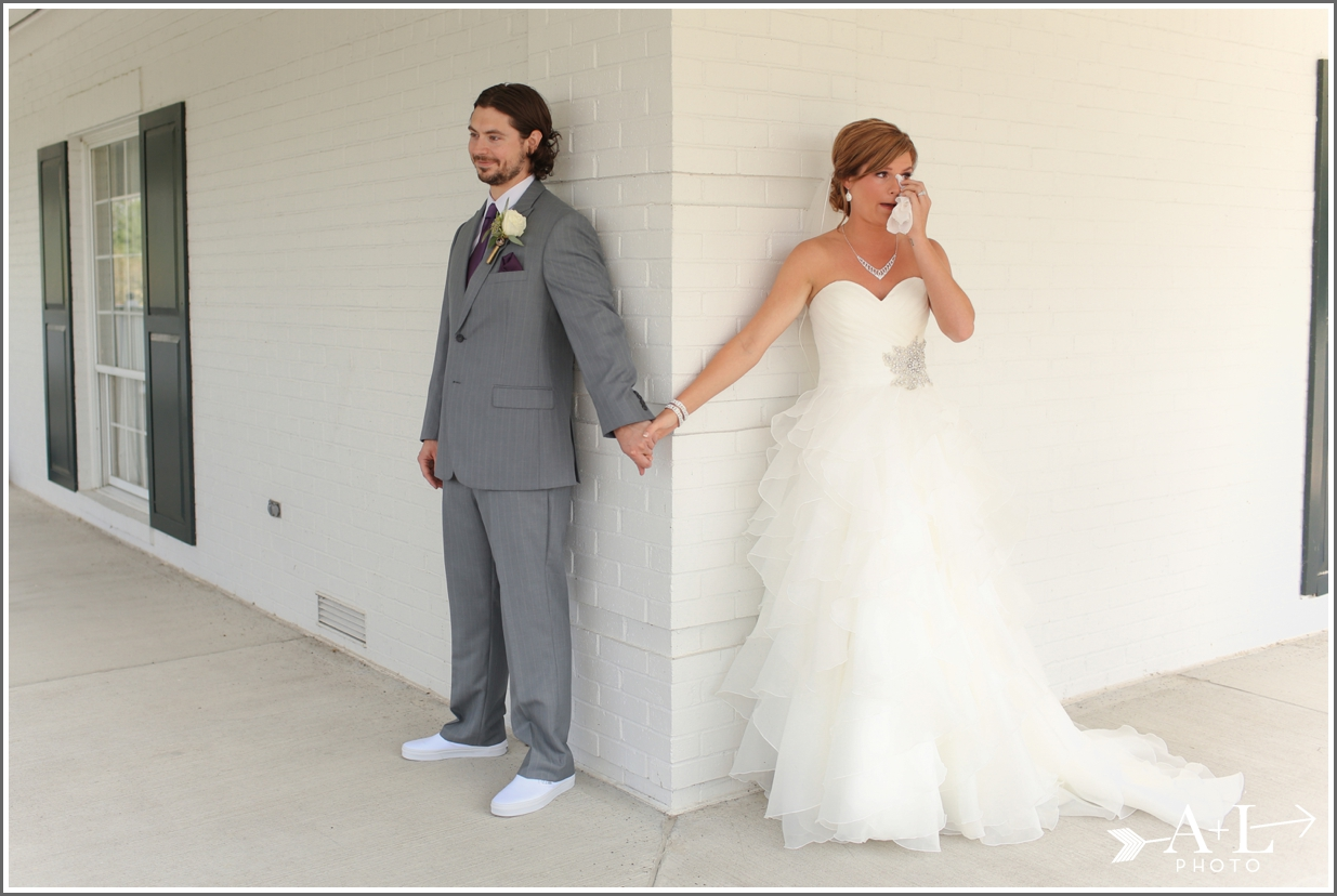 Country Club Wedding, first look