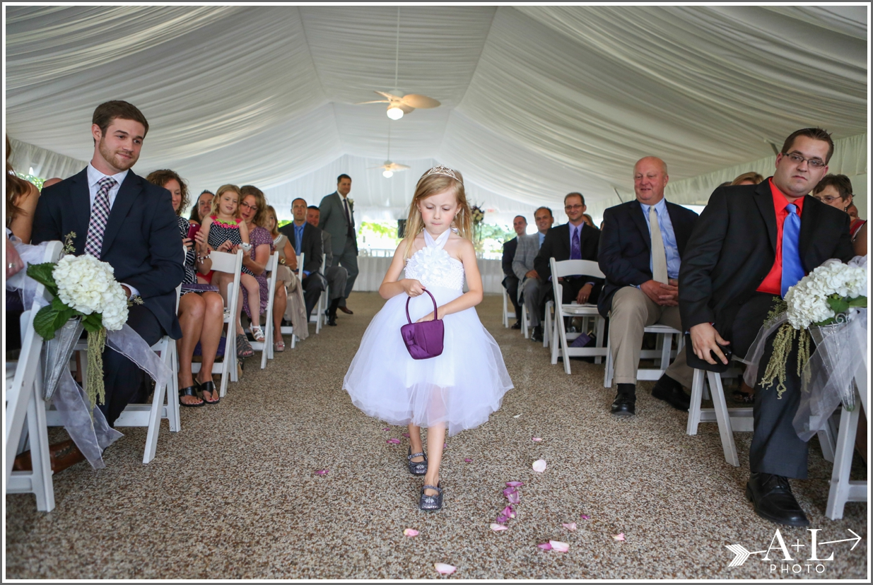 Country Club Wedding, Flower Girl
