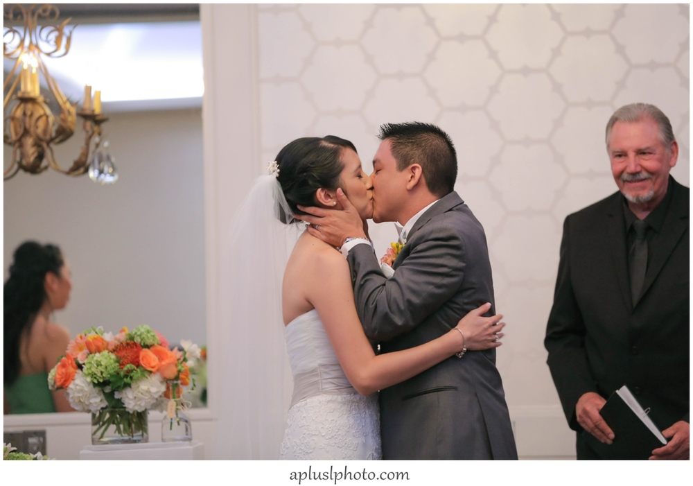 Wedding First Kiss