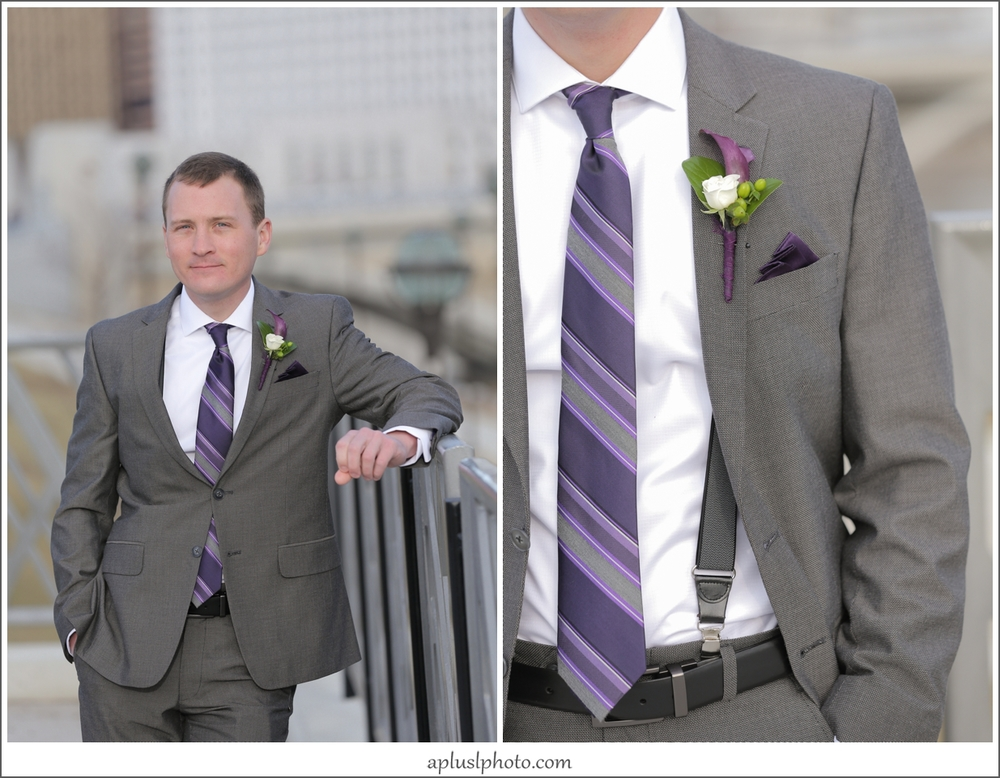 Purple Wedding Tie