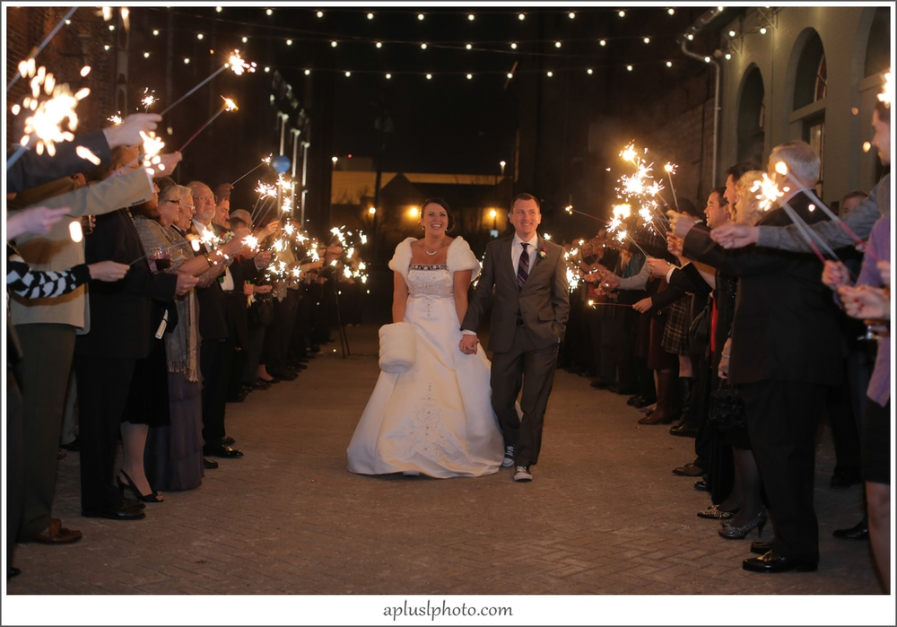 Sparkler Wedding Entrance