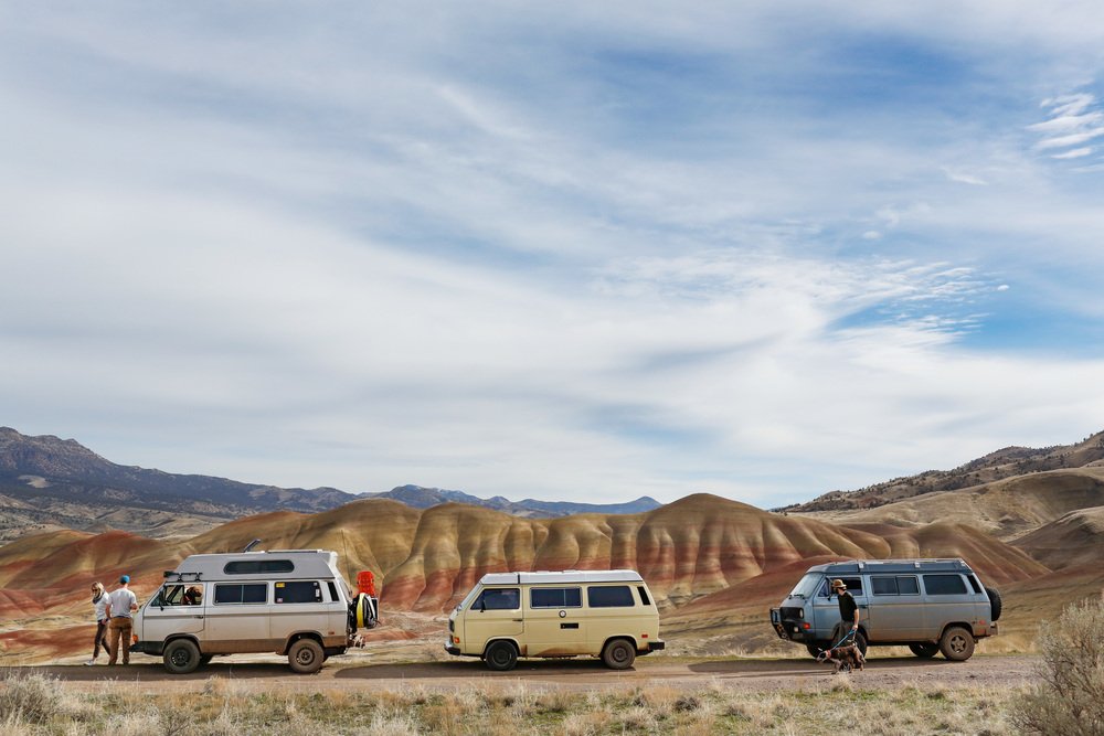 Vanagon's at The Painted Hills