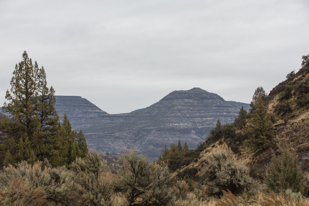 Rock Face in Mitchell, Oregon