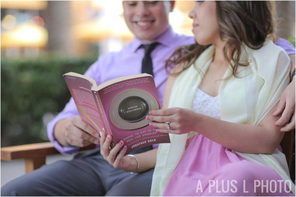 Book Nerd Inspired Engagement Session | A Plus L Photo