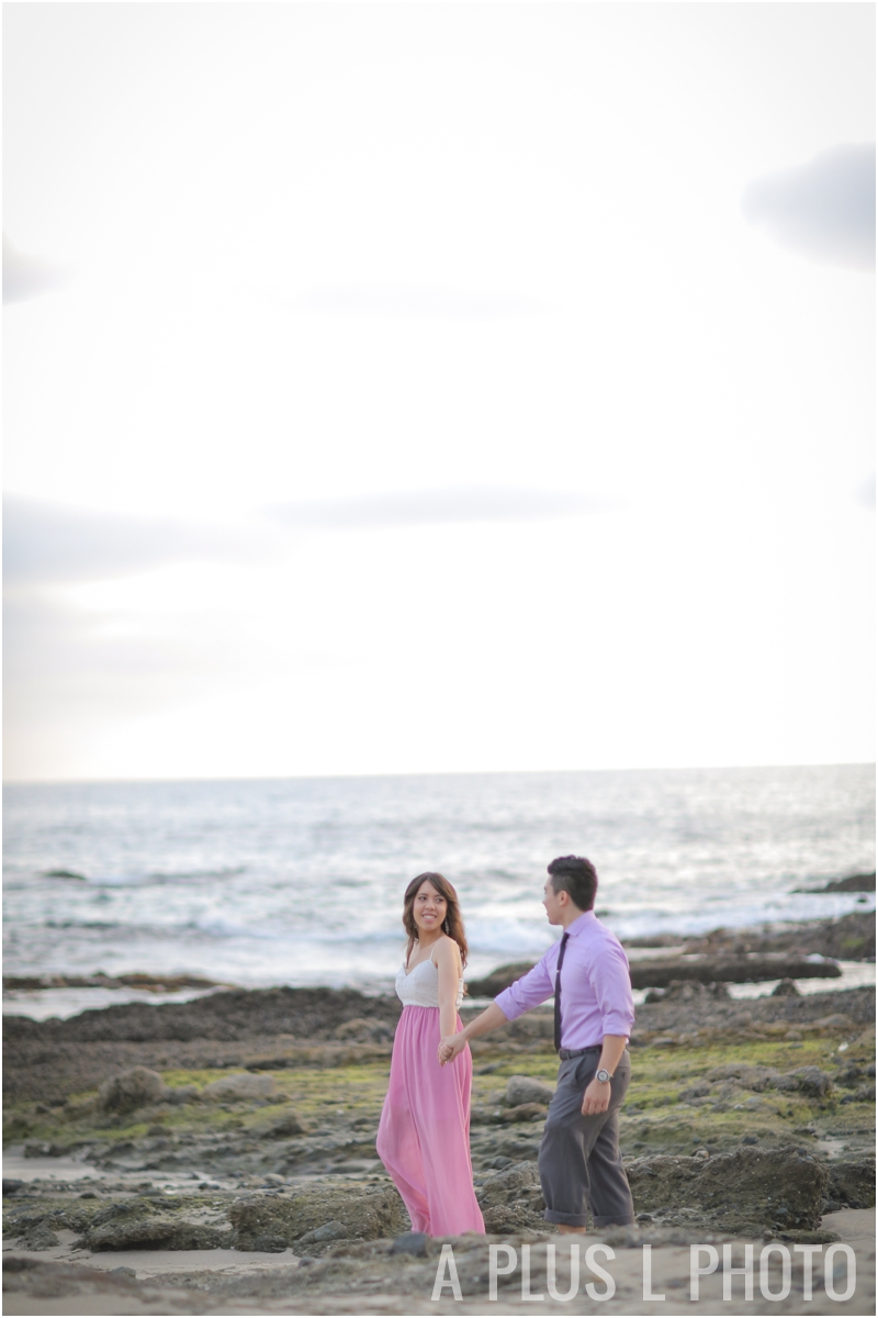 Southern California | Victoria Beach Engagement Session | A Plus L Photo