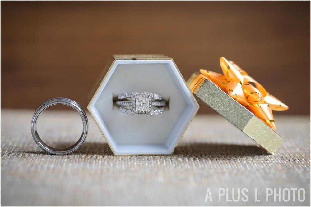 Wedding Details | Wedding Ring Set | A Plus L Photo | Portland, OR Wedding Photographers