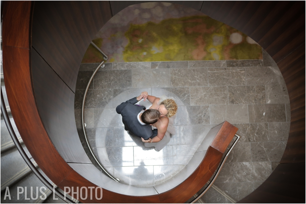 Hilton Columbus Wedding | Bride and Groom | A Plus L Photo | Portland, OR Wedding Photographers