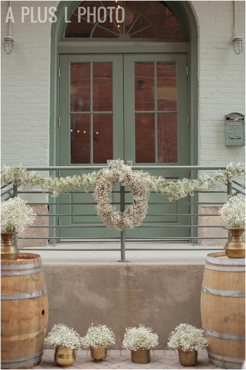 Simple Wedding Details | Baby's Breath Bouquet | A Plus L Photo | Portland, OR Wedding Photographers