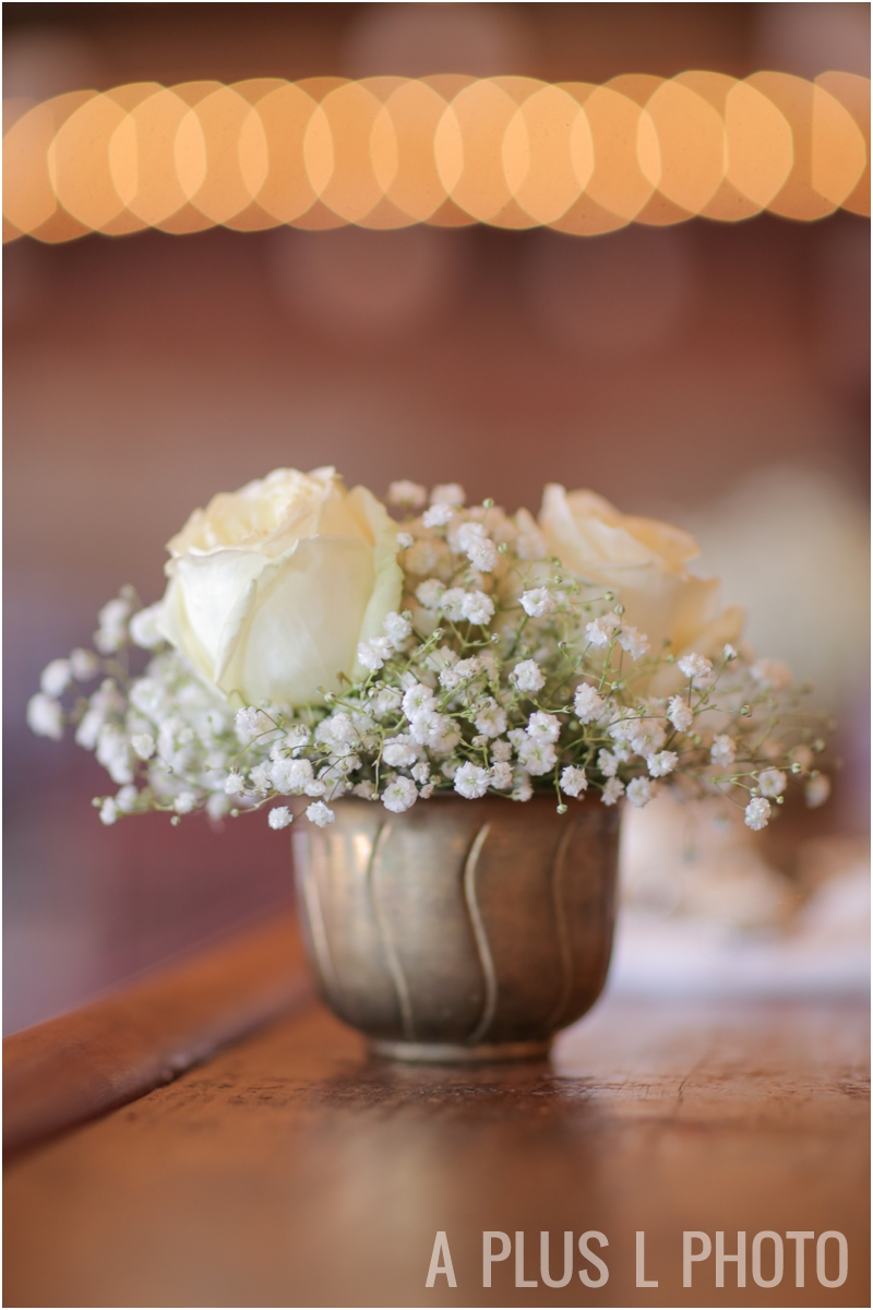 Vintage Gold Vase | Rustic Wedding Details | Via Vecchia Winery Wedding | A Plus L Photo | Portland, OR Wedding Photographers