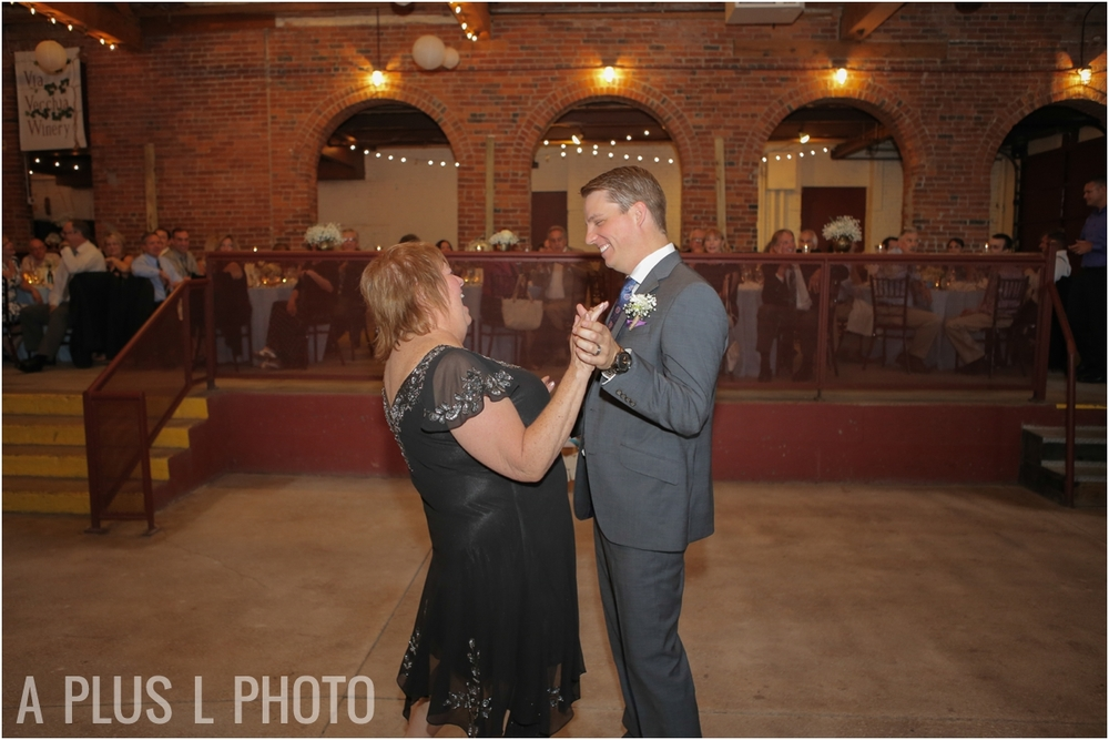 Mother Son Dance | Via Vecchia Winery Wedding | A Plus L Photo | Portland, OR Wedding Photographers