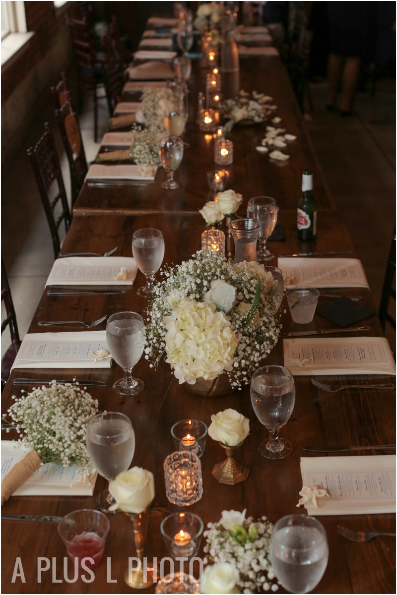 White Weding Tablescape | Rustic Wedding Details | Via Vecchia Winery Wedding | A Plus L Photo | Portland, OR Wedding Photographers