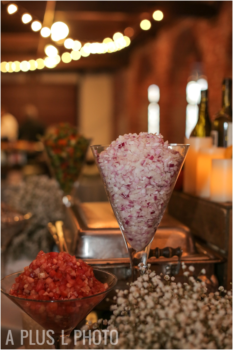 Weddding Dinner Buffet | Via Vecchia Winery Wedding | A Plus L Photo | Portland, OR Wedding Photographers