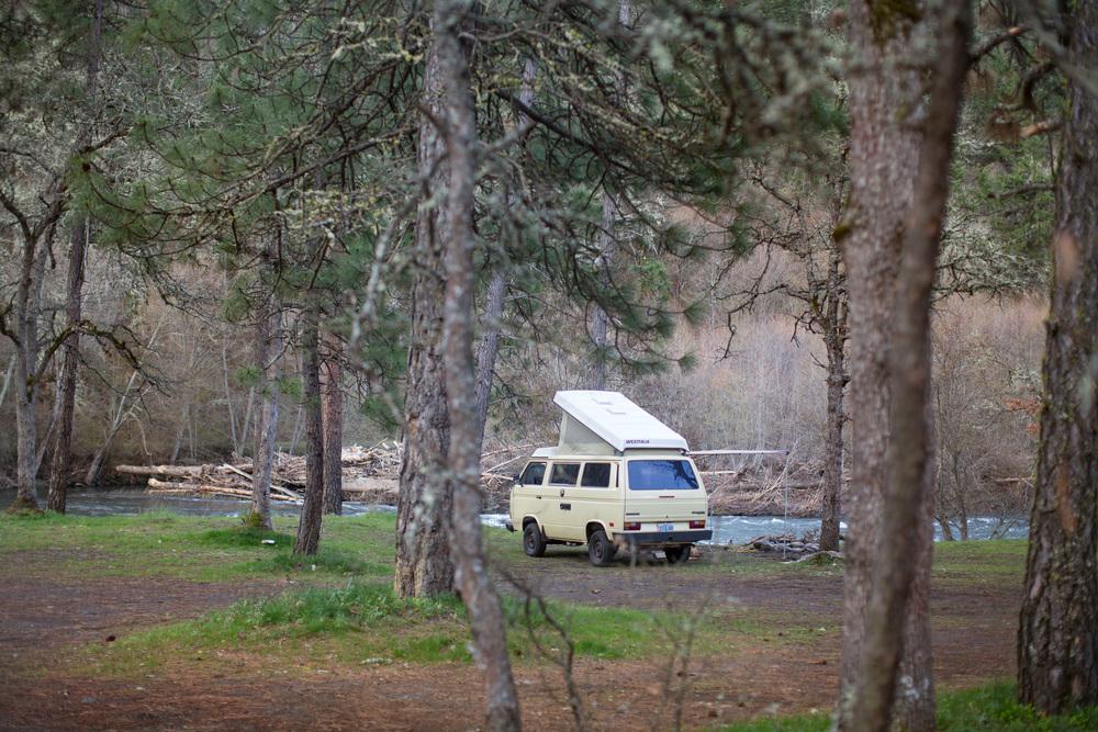 Van Camping in Klickitat
