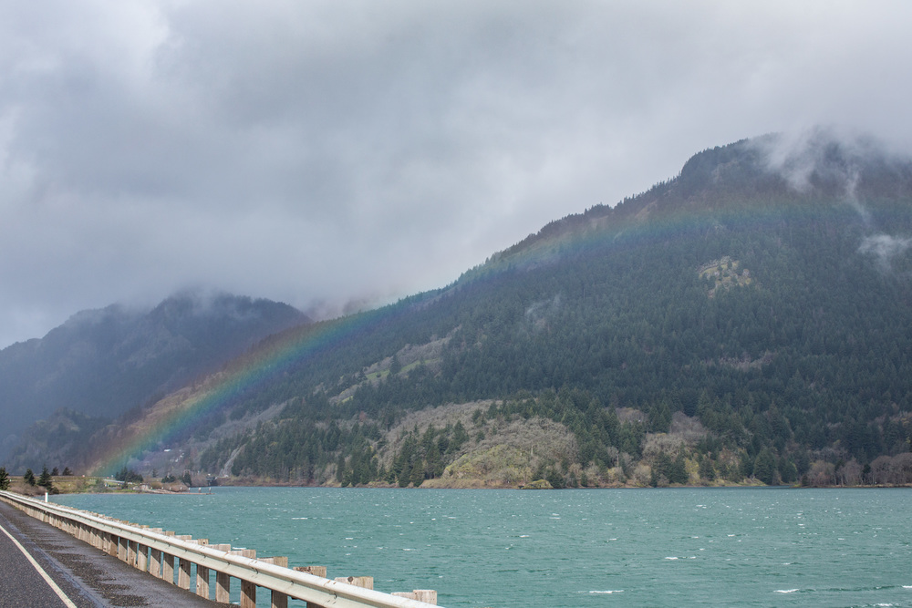 Rainbows and the Columbia River | A Plus L Photo