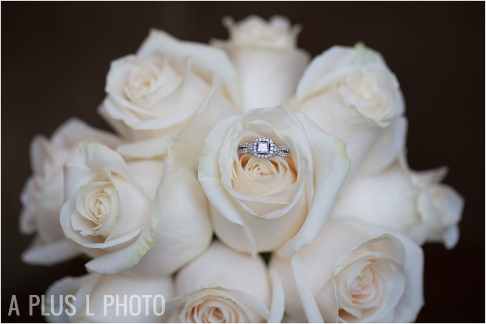 White Roses Wedding Bouquet - A Plus L Photo