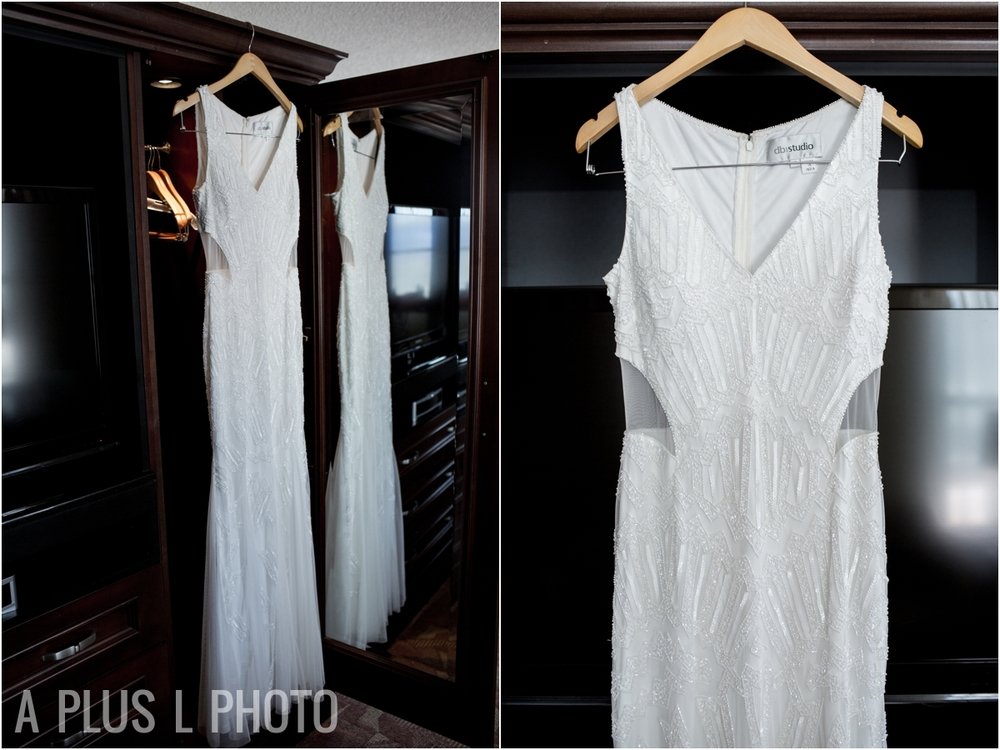 White Beaded Wedding Dress - A Plus L Photo